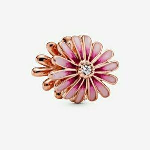 Pandora Rose Gold Pink Daisy Flower Charms